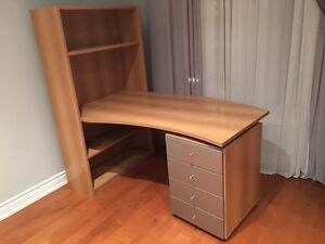 Neoset Office- Bookshelf and Desk - Real Wood -Bring Best Offer