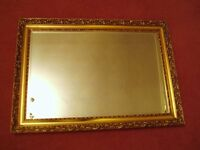 Large rectangular mirror in Gold Frame - in Doncaster - great condition.
