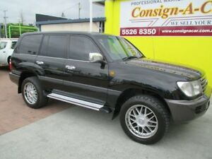 2002 Toyota Landcruiser UZJ100R GXL Black 5 Speed Automatic Wagon
