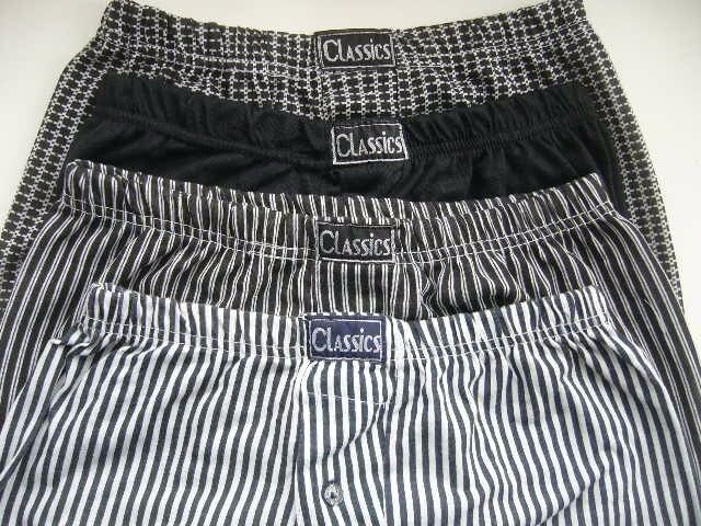 New 4 pairs mens classic boxer shorts / pants size medium large - southbourne