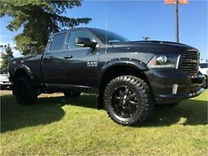2016 RAM 1500 SPORT LIFTED, FLARES, BOARDS, RIMS & TIRES !!