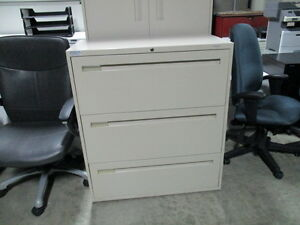 Teknion 3 Drawer Lateral File Cabinets