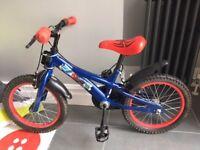"Boys 14"" Spiderman bike"