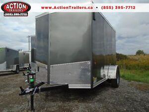 6X10 HAULIN - RAMP DOOR, V-NOSE - GREAT TRAILER, LOW PRICE!