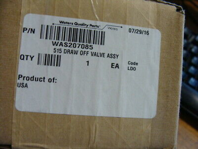 Waters 515 Draw Off Valve Assembly Was207085 New Sealed Box