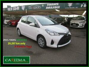 2015 Toyota Yaris NCP130R MY15 Ascent White 5 Speed Manual Hatchback Seven Hills Blacktown Area Preview