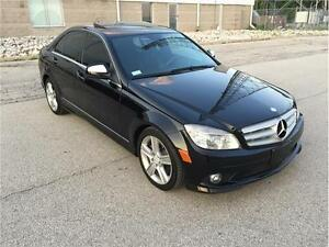 2008 MERCEDES C300 RARE 6SPEED MANUAL/SUNROOF/BLK ON BLK LEATHER