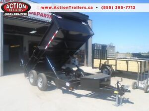 3.5 ton dump trailer - SPECIAL W/DUAL PISTONS 6 X 12' BED
