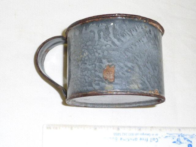 RAILROAD ENAMEL METAL  DRINKING CUP