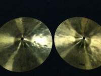 Two Dream cymbals Bliss and Contact both 14 inch plus free Sabian AAX 17 cracked crash