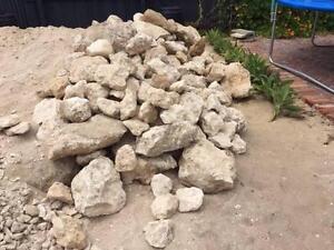 Free Limestone rocks suitable for landscaping, rubble walls etc North Fremantle Fremantle Area Preview
