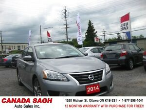 2014 Nissan Sentra  SR, LOADED CAR 92km ! 12M.WRTY+SAFETY $10900