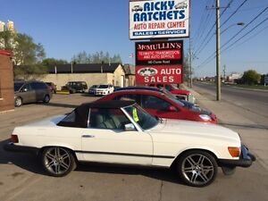 1985 MERCEDES 380SL CONVERTIBLE $6000 AS IS