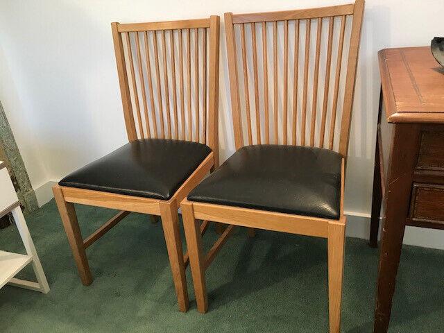 oak dining chairs ikea  in chiswick london  gumtree