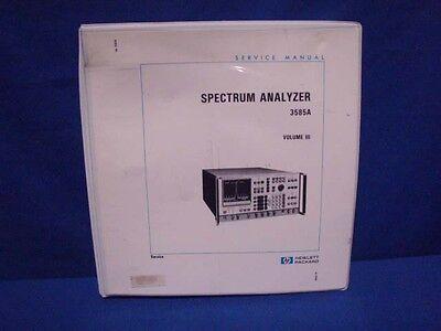 Hp 3585a Spectrum Analyzer Service Manual