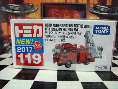 TOMICA #119 MORITA MULTI PURPOSE FIRE TRUCK 1/90 SCALE NEW IN BOX [WYL]