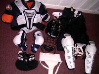 equipement de hockey pour jeune femme