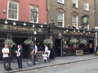 "Experienced Friendly Bar Staff Required For ""The Green Man Soho"" (Traditional English Pub) W1F 8SR"