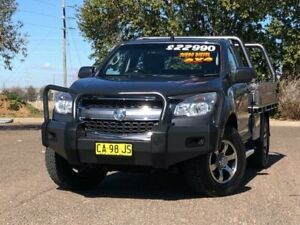 2012 Holden Colorado RG MY13 LX Grey 6 Speed Sports Automatic Cab Chassis Hillvue Tamworth City Preview