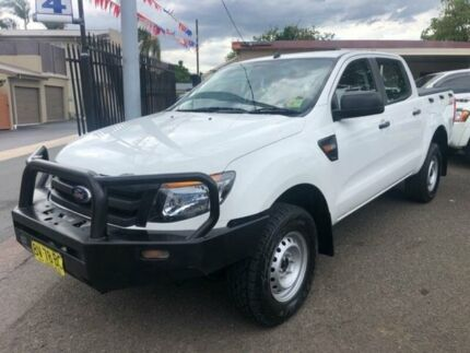 2013 Ford Ranger PX XL 3.2 (4x4) White 6 Speed Manual Dual Cab Utility Waratah Newcastle Area Preview