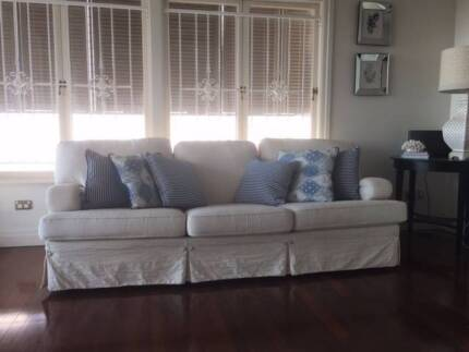Sofa 3 seater, 2 seater and single chair & ottoman