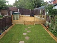 fencing, flagging, decking, block paving, turfing, landscaping, driveways rubbish removals