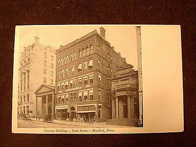Antique 1900 Hartford Connecticut Courant Building State Street Post Card Nmt