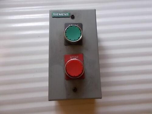 Siemens 3SB0222 Start Stop Pushbutton Station Assembly