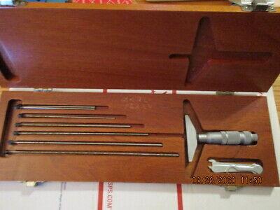 Tool 20 Machine Repair Tool Maker Brown Sharpe Metric Depth Micrometer Set