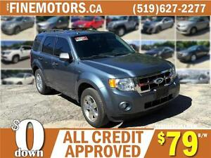2011 FORD ESCAPE XLT * 4X4 * LEATHER * POWER ROOF * FLEX FUEL