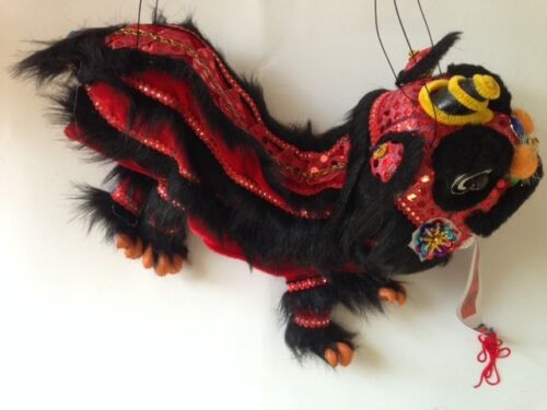 CHINESE NEW YEAR PUPPET LION DRAGON HEAD DANCE HANGING DECORATION