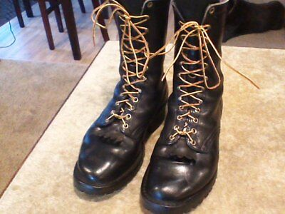 RARE🔥 Hathorn Explorer Firefighter Protective Boots Sz 9 EE Black Leather Lug