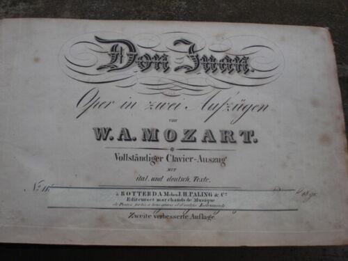 W.A.MOZART Opera book  Date 1825