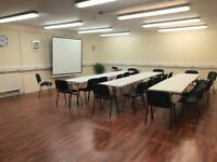 Hall for hire for meetings, conferences, training and events, free parking