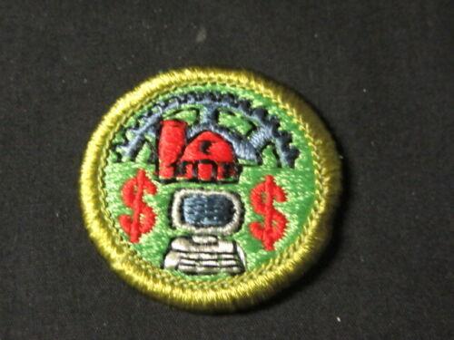 AgriBusiness Boy Scout Merit Badge Molded Plastic Back       c22