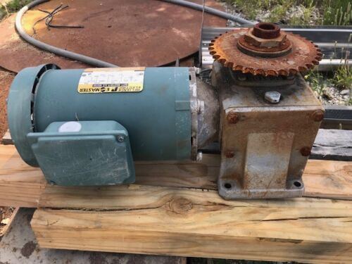 reliance electric gear motor and boston  drive duty master 36x0363P  1hp