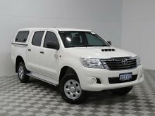 2013 Toyota Hilux KUN26R MY12 SR (4x4) White 5 Speed Manual Dual Cab Pick-up Atwell Cockburn Area Preview