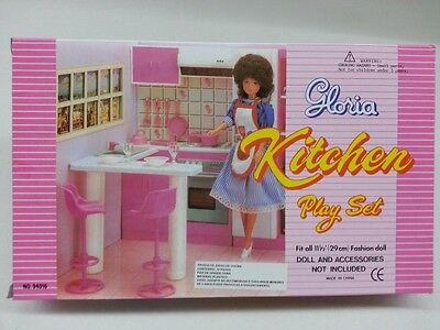 Gloria, Barbie Doll Furniture/(94016) Kitchen Set