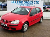 VOLKSWAGEN GOLF 1.6 S FSI 5d 114 BHP A LOW PRICE 5DR HATCHBACK (red) 2006