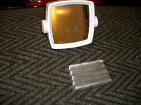 Makeup mirror (Reversable) and Solid Metal Soap Dish