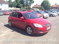 2007 (07 Reg) Kia Ceed 1.6 GS 5DR Hatchback RED + LOW MILES