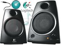 new Logitech 2 Channel Multimedia Speaker System w/Headphone jac