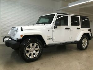 2016 Jeep Wrangler Unlimited Sahara, 2 Tops, Navigation!