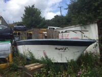 27 foot boat hull with 15 bmc diesel engine