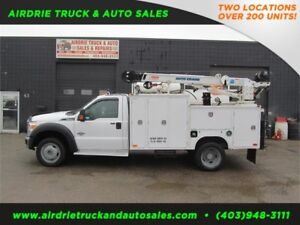 2013 Ford F-550 DRW XLT 5005EH Auto Crane Aluminum Western box