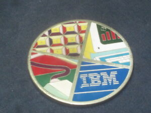 RARE GEEK! Vintage Name Plate from IBM Main-Frame Computer