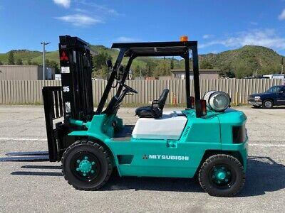 Mitsubishi Fg35 Forklift 8000 Lbs Load Capacity Good Hours Ex California City