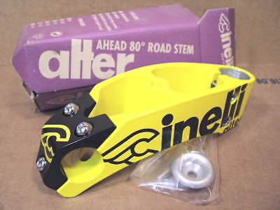 140 mm x 26.0 mm New-Old-Stock Cinelli Alter Stem..Black w//Silver Accents