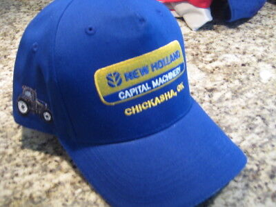 Blue New Holland Capital Machinery Hat Cap Stitched Logo Chickasha Ok New