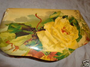 ANTIQUE-VICTORIAN-CELLULOID-YELLOW-ROSE-C-KLEIN-UNSIGNED-DRESSER-BOX-w-SET